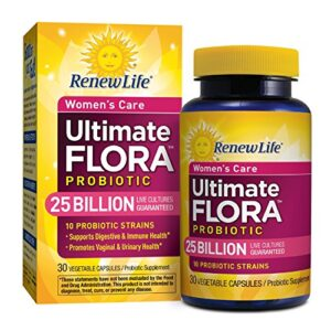 Renew Life Women's Care Probiotic, Ultimate Flora, 25 Billion, 30 Capsules